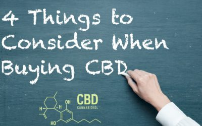 4  Things To Consider When Buying CBD