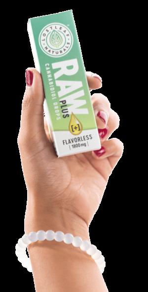RAW Plus box inhand 3 e1624379078730 - LostLeaf Naturals — Choice CBD Products