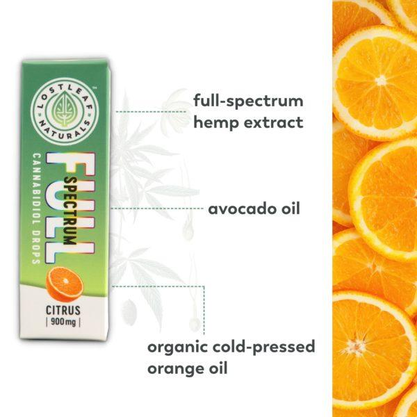 Full-Spectrum | 900mg CBD Drops (Citrus)